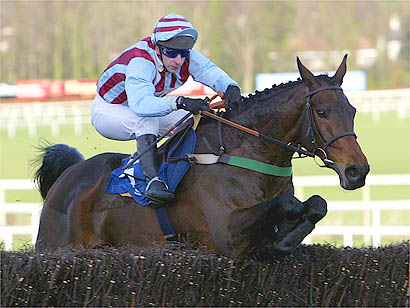 Jim Culloty rides Best Mate to victory in the Ericsson Chase at Leopardstown /Getty