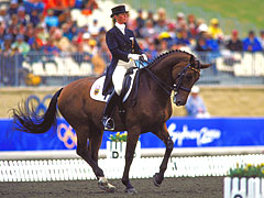 Picture taken during the 2000 Olympic Games in Sydney, Australia. Alexandra Simons De Ridder of Germany in action during the Dressage event © Hamish Blair/ALLSPORT