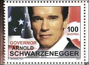 Austria's Arnold Schwarzenegger postage stamp