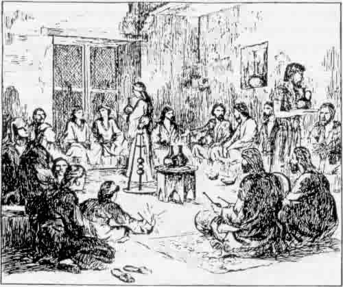 Drawing of a First Century Church Meeting