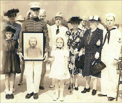 The Pickett family at the 1942 dedication