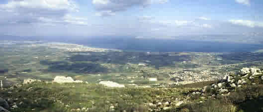 Panorama from Acrocorinth, looking north towards Perachora Peninsula