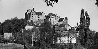 The imposing Colditz castle